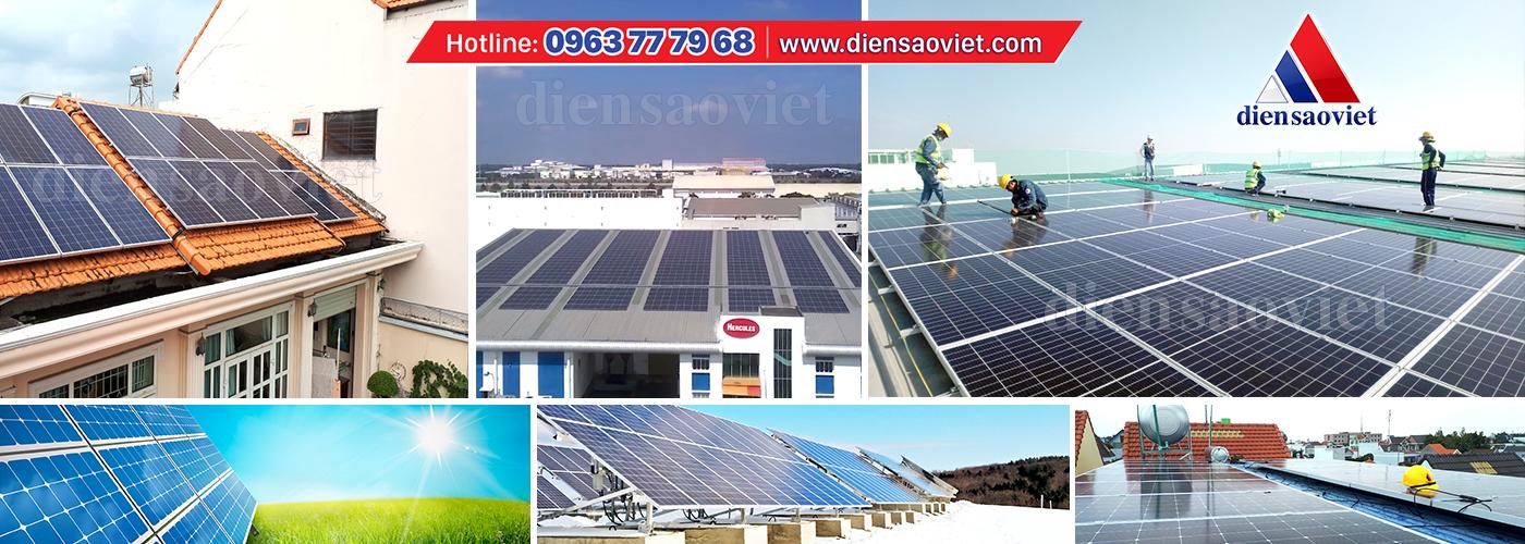 Thi công hệ thống điện năng lượng mặt trời - Công ty TNHH MTV Điện Sao Việt