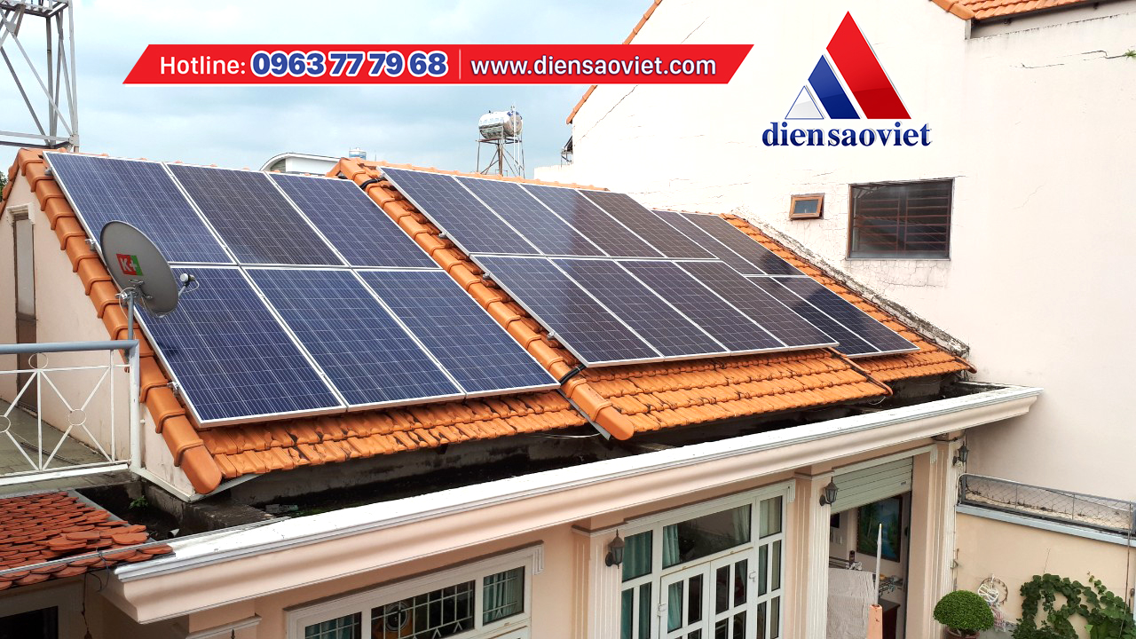 Công ty Điện Sao Việt thi công hệ thống điện mặt trời mái nhà