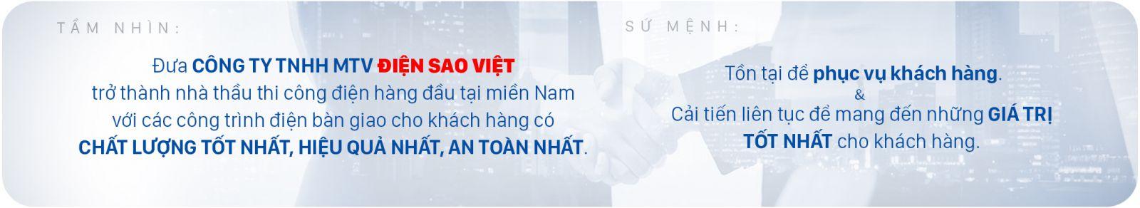 Tầm nhìn Sứ mệnh Công ty TNHH MTV Điện Sao Việt
