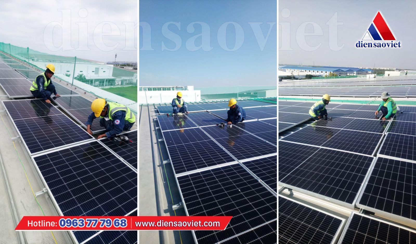 Công ty Điện Sao Việt thi công hệ thống điện mặt trời mái nhà cho doanh nghiệp