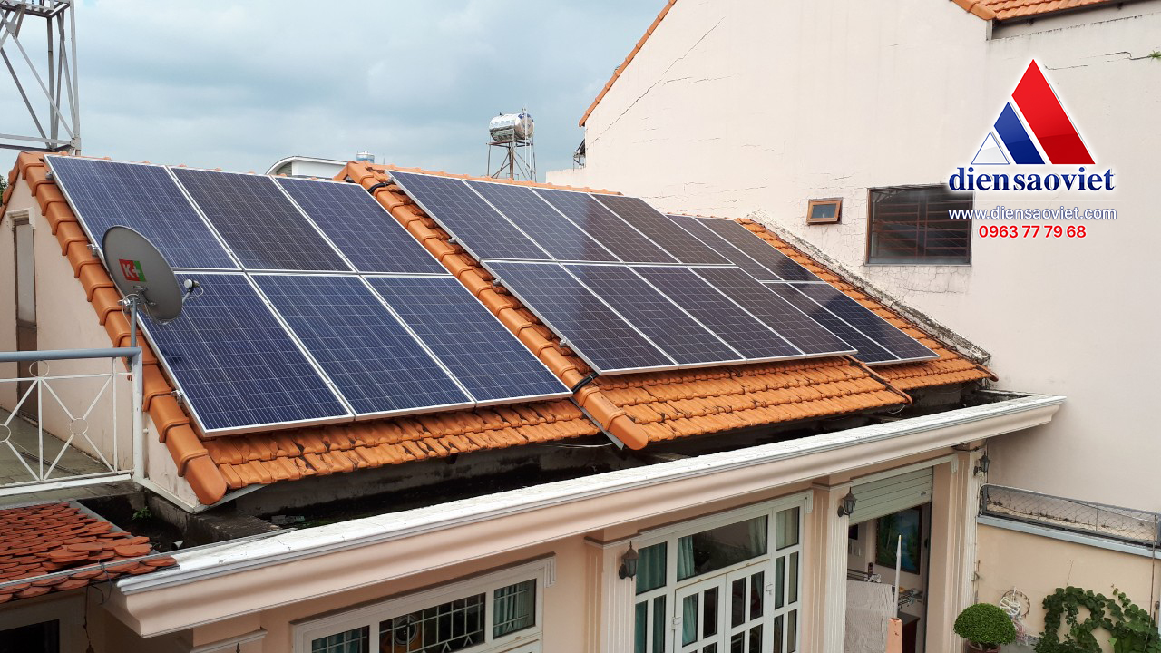 Lắp điện mặt trời mái nhà - Công ty TNHH MTV Điện Sao Việt
